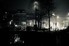 foggy night (claudia 222) Tags: human humans night noctilux dark monochrome blackwhite bw city street fog noir silhouette