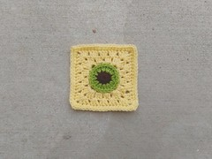 A crochet remnant rehabbed into a five-inch crochet Christmas square (crochetbug13) Tags: crochetbug crochet crocheted crocheting crochetremnant crochetsquare grannysquare projectamigo crochetblanket crochetcircle