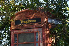 Decay (JerryGoulet) Tags: phonebox london decay urban abandoned unloved vegetation communication telephone old vestige