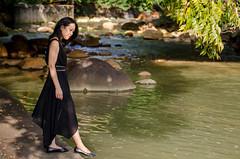 Jean (Taiwan) (su4jsus) Tags: people portraits taiwan asia taipei rivers city smokey blackandwhite experiment color fuzzy green trees lady river
