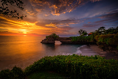 Tanah lot sunset (dannygreyton) Tags: bali indonesia asia longexposure longexposureshot ocean sea beach sunset fujifilmxt2 fujifilm fujinon1024mm fujifilmxseries travel landscapephotography landscape clouds colorful horizon sunsetphotography waves cliff water