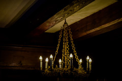 Chandelier From The Music Hall And Library At Bran Castle, Transylvania, Romania (OLF Picture) Tags: chandelier musichall library transylvania brancastle dracula achitecture romania light dark travel ancient culture building old sculpture traditional wall wood chains