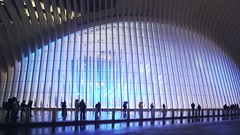 Oculus 360 Pan Clip 24-120218 with music (Michael.Lee.Pics.NYC) Tags: newyork oculus 360degrees panning wtc worldtradecenter night sky architecture cityscape lowermanhattan sony a7rm2 voigtlanderheliar15mmf45
