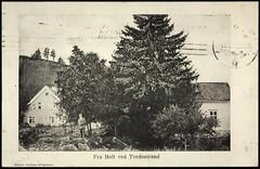 Postkort fra Agder (Avtrykket) Tags: bolighus hus mann postkort tvedestrand austagder norway nor