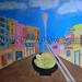 """Fork on the Road: Eat Ramen"" by Millie Joy B, acrylic, $30.00"