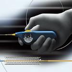 自己拡張型末梢動脈治療用ステントの写真