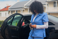 Suave (Rushay) Tags: woman texting curlyhair suave car african technology portelizabeth southafrica