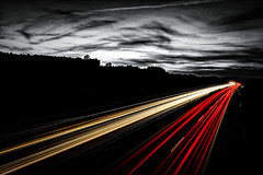 Highway - Switzerland (Patrik S.) Tags: highway bw black white blackandwhite lights tail front red sunset dawn sony a7iii a7m3 switzerland longexposure forest clouds light dark fast race dusk evening nigth trail landscape outside road street direction