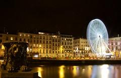 Bayonne. (HanaMaï) Tags: bayonne paysbasque sudouest aquitaine granderoue illuminationsnoel reflets reflects bynight