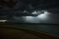 The Storm is coming (betadecay2000) Tags: stormclouds darwinwaterfrontprecinct darwin northernterritory australia jan2016 ta thunderstorm strom sturm austral australie australien austrralia port northern territory unwetter gewitter gewittrig meer ozean see sea wolken dunkel böenfont urlaub reis travel holyday wetter weer weather regen rain outdoor wolke himmel dämmerung landschaft ufer küste brücke architektur