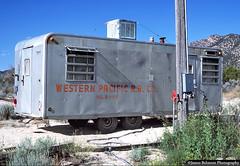 WP Monocoach Trailer (jamesbelmont) Tags: railroad railway trailer westernpacific unionpacific monocoach roadmaster tintic utah maintenanceofway