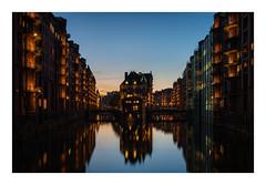 Wasserschloss (u.schmidt) Tags: hamburg speicherstadt wasserschloss longexposure bluehour water warehouse