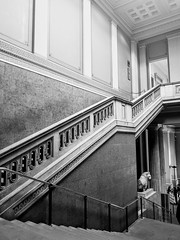 Layers of history (Kyle Brooker Photography) Tags: thebritishmuseum london layers history bw blackandwhite architecture interior stairs