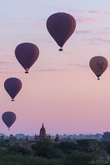 dreaming morning (ck0375s) Tags: sky morning myanmar bagan travel landscape amateur scenery nikon temple gradation balloon