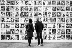 Let's Face It (Sean Batten) Tags: london england uk kingscross europe eu blackandwhite people candid theface streetphotography street city urban coaldropsyard magazine cover nikon d800 35mm