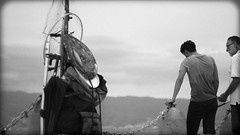 Fishing (alessandro.ammendola) Tags: arenadellostretto reggiocalabria calabria italy strettodimessina ilce6300 sony sonya6300 sonya helios443 58mm blackwhite people fishing action black white biancoenero man