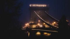 Foggy bridge (BenedekM) Tags: fog foggy budapest hungary bridge night lights nikond3200 d3200 nikon city architecture