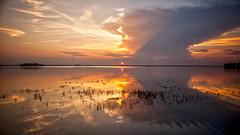 Lake Sunset (L I C H T B I L D E R) Tags: poland polen polska see lake sunset peacefulness nature masuria mazury mazuria masuren fuleda jezioro dobski road ermland ermlandmasuren wald baum gras sky clouds wolken ngc sonnenuntergang himmel wasser heiter wolke