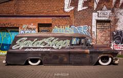 Spietshop2-GMC (Willem Vernooy (FoToWillem)) Tags: gmc gmctruck automotive car carshow carmeet carshoot carevent auto automobiel automeet autoday graffiti airbrush doel belgie belgium nopaint custom customcar customtruck fotowillem ftw willemvernooy