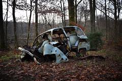 Renault 4 (à l'oeil de verre photographie) Tags: voiture renault 4l épave rouille wreck fôret foret old car àloeildeverrephotographie