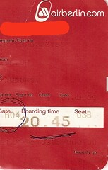 "Boarding Pass Air Berlin • <a style=""font-size:0.8em;"" href=""http://www.flickr.com/photos/79906204@N00/46130640421/"" target=""_blank"">View on Flickr</a>"