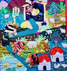 Christmas  expositie . (Franc Le Blanc .) Tags: kerststallen expositie abdij wandkleed