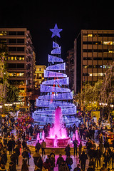 Christmas in Athens (Vagelis Pikoulas) Tags: christmas athens greece tree sigma art f14 canon 6d city cityscape landscape people light lights december winter 2018 urban