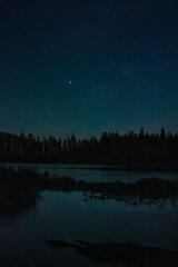 Over the Lake (TsunamiHolmes) Tags: night shot longexpopsure astrophotography stars star space lake manzanita lassen national park