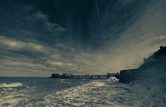 samyang 14mm-13 (istee@live.co.uk) Tags: cromer pier beach seaside wideangle superwideangle sea waves samyang 14mm sonya7rii clouds sky blue