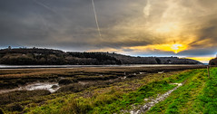 Sentier côtier (Brittany-France) (Discover_Brittany) Tags: randonnée randonnee trail river sunset sunrise sunlight way chemins brittany bzh travel 29 bretagne finistere clouds cloud cloudy nuages