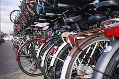 Bicycle parking (Eric Flexyourhead) Tags: amsterdamcentraal amsterdamcentraalstation amsterdam netherlands holland nederland city urban detail fragment bike bicycle parking sonyalphaa7 zeisssonnartfe35mmf28za zeiss 35mmf28