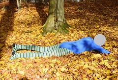Autumn - pantyhose and leotard (wetmuddy) Tags: outdoor fun forest autumn herbst wald leotard unitard pantyhose gymanstik gymnastikanzug lycra spandex medias strumpfhose tights legs leggings gymnastics gimnasia