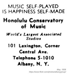 1939 honolulu conservatory of music (albany group archive) Tags: albany ny history 1939 honolulu conservatory music school central avenue lexington old vintage photos picture photo photograph historic historical 101
