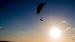 High (Iamdeenotyou) Tags: paraglid paraglie paraglide parasail parachute floating sunset canon g7x mii beach sky