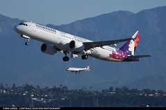 Hawaiian A21N N204HA (Sandsman83) Tags: los angeles klax lax airplane aircraft plane takeoff airbus a321 hawaiian neo n204ha