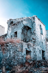 IR Ruined (BryzePhoto) Tags: art amazing ambient beautiful ir 690nm 690 r69 infrared infrarossi poggioreale sicily italy ruderi rovine terremoto ruine emotions emotion life lovely landscape lights luci colors falsecolor