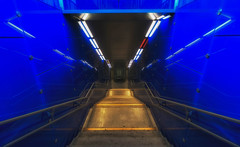 downstairs again (try...error) Tags: sliders sunday sliderssunday staircase stairs blue blau urban hss