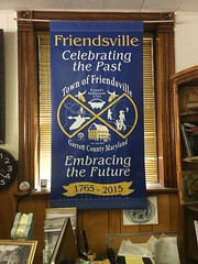 Friendsville banner (presmd) Tags: 2010s history pmprograms heritagefund garrettcounty friendfamilyassociationofamerica sites friendsville places cities objects maryland interiors banner signs garrettcountymaryland usa