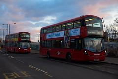 Metroline VWH2203 & VWH2219 on Route 140, Harrow & Wealdstone Station (e400olympus) Tags: metroline volvo b5lh wrightbus wright gemini 3 vwh2219 vwh2203 lk66dxa lk66hzm