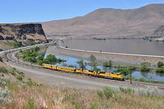 5/20/13 Biggs, OR (Austin Jacox) Tags: union pacific railroad trains passenger columbia river gorge biggs oregon emd nikon