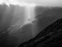 Beautiful Light Ray (Mono) (GOR44Photographic@Gmail.com) Tags: mono bw scotland argyll gor44 hills highlands mountains cloud panasonic g9 olympus 1240mmf28 beinnanlochain restandbethankful sunlight rays monoscotland