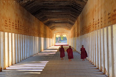 Bagan, novice monks (Neal J.Wilson) Tags: myanmar burma asia asian burmese bagan travel travelling nikon buddhism monks perspective