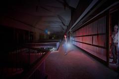 Not Alone (Just Add Light) Tags: monster urbex abandoned mall dark lightpaint scary milwaukee nightphotography urbanexploration zombie