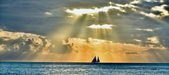 Two-masted sailboat in the setting sun - Key West (stevelamb007) Tags: panoramic florida keywest mallorysquare clouds sunset boat sailboat nikon d7200 stevelamb