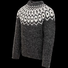 Charcoal icelandic style sweater (Mytwist) Tags: íslensk reykjavik icelandic iceland isle ullar lopi peysa classic heritage craft bulky retro timeless vintage traditional design pattern stitch jaquard sweater jumper pullover laine chunky cozy snorri11171392 snorri mens handknitted wool icewear gift itch love husband sexy