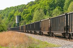 18-2629 (George Hamlin) Tags: virginia gladstone railroad freight train coal gondolas loads eastbound csx trees coaling tower track ballast photo decor george hamlin photography