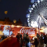 Coca Cola Truck at Ice Skate Birmingham during the sleet storm thumbnail