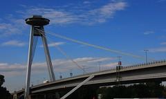 UFO Bridge Bratislava Slovakia (5) (Ann Collier Wildlife & General Photographer) Tags: ufobridge bridgeoftheslovaknationaluprising bratislava slovakia bridge building