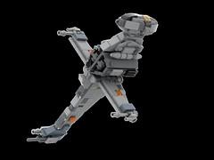 MOC Midi B-Wing Starfighter (LDD Building Instructions) by  Cpt. Ammogeddon (Repubrick.com) Tags: star wars moc custom rebel fighter space vehicle heavy movie