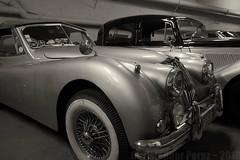 Nice, France ~ 2019 (Christopher Mark Perez) Tags: nice france bw blackandwhite monochrome oldvehicles oldcar vintageautomobile jaguar